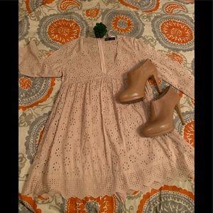 ZARA TRF eyelet romper / dress